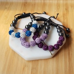 Jewelry - 3 adjustable bead bracelets